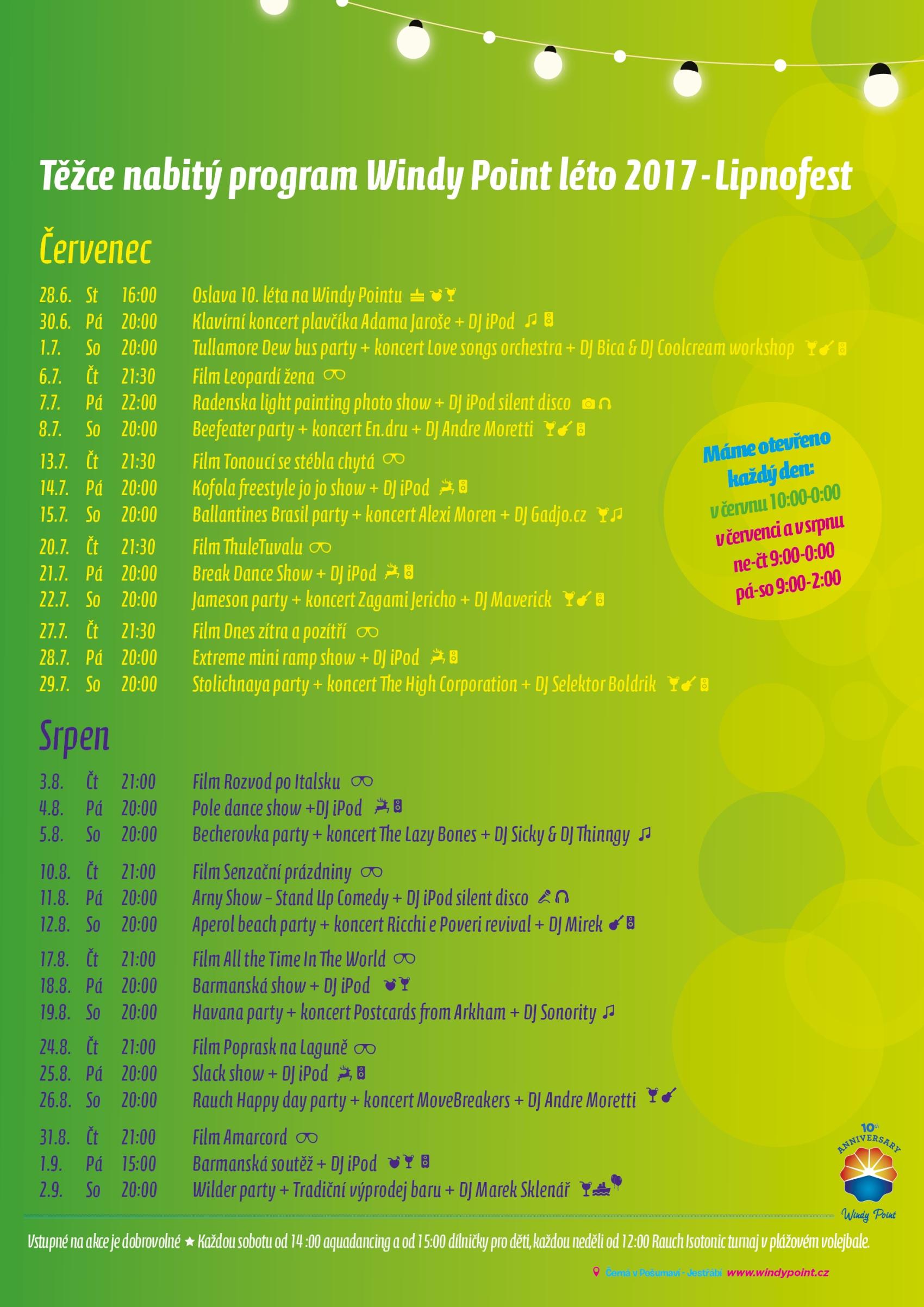 Oslavte s námi desáté léto na WindyPointu ve velkém stylu